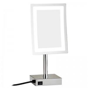 LED Maquillaje Espejo ajustable Encimera 3X Lupa Mesa Cosmética Maquillaje Espejo LED 2239D