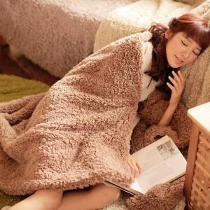 Manta súper suave de lujo de alta gama Franela y manta de vellón de coral Edredón Charm Wrap Swaddle, mantas de verano y otoño Botón pequeño