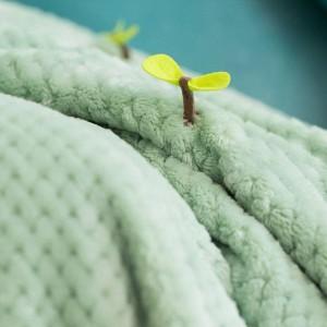Manta súper suave de lujo de alta gama Franela y manta de vellón de coral Edredón Charm Wrap Swaddle, mantas de germinación de verano otoño