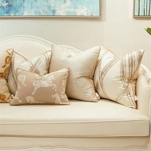 Funda de cojín Jacquard de alta precisión Decoración de lujo Almohadas Funda de silla Cojines Decorativos Para Sofá Cojines Housse De Coussin