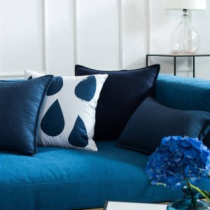 Funda de cojín de lino de algodón de alta calidad, agradable para la piel Funda de almohadas sólidas Sofá Fundas para automóviles Decoraciones de Navidad Cojine para el hogar