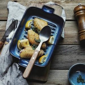 Estilo japonés cambio de horno vajilla de cerámica utensilios para hornear placa occidental hogar creativo plato de ensalada plato de pescado orejas al horno oídos tazón de fuente