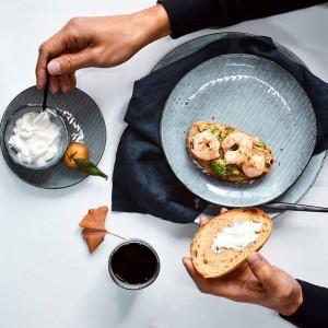 Juego de vajilla de cerámica de diseño japonés KINGLANG Juego de platos Procelain Juego de plato para restaurante Bowl QINGX