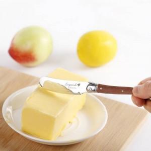Cuchillos para esparcidores de mantequilla estilo Laguiole Juego Cuchillo de mantequilla de acero inoxidable Cortador de queso con mango de madera Cubiertos de cocina de 6.25 ''