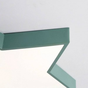 Macaron colores de luz de techo estrella lámpara de hierro cuerpo pantalla de acrílico vestíbulo sala de niños lámpara de techo accesorio de iluminación LED Promoción