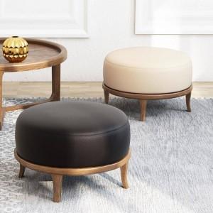 Taburete fuerte de madera sólida natural Artículos de mobiliario creativo Taburete de la sala de estar del estilo simple Taburete de la esquina