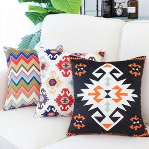 Nueva tendencia exótica fundas de cojines elementos geométricos fundas de almohada Cojines decorativos para sofá Housse De Coussin fundas de almohada