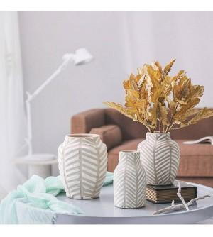 Jarrón de cerámica nórdica moderna olla de barro europea gabinete de TV de flores sala de estar comedor decoración del hogar adornos