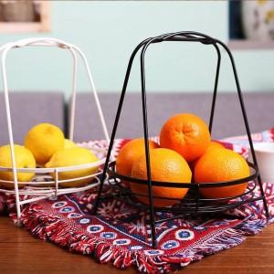 Salón nórdico Cesta de fruta creativa Cesta de fruta de acero inoxidable Hogar Cesta de fruta minimalista moderna Cesta de almacenamiento de escritorio