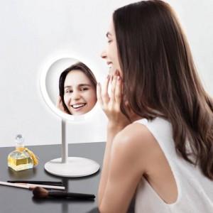 Espejo de maquillaje de color rosa lámpara de escritorio de escritorio lámpara de escritorio de luz de relleno inteligente hogar plegable portátil dormitorio espejo mx12261555