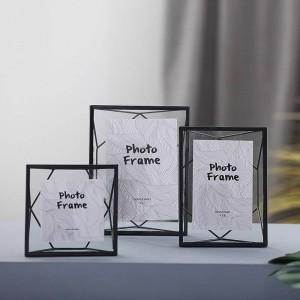 Marco de muestra de planta Metal Conjunto de geometría creativa Marco de fotos de vidrio europeo Regalos