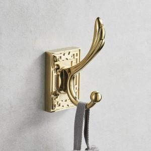 Ganchos para batas Toallitas de metal Ganchos para colgar ropa Abrigo para sombreros Bolsa Accesorios de baño para montaje en pared Soporte para gancho para toallas de puerta 8016