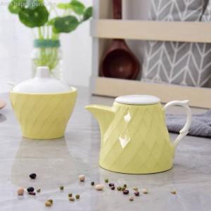 Combinación de tarro de especias Caja de especias de cerámica creativa Tarro de especias Aceite de hogar Sal Pimienta Caja de condimentos Combinación Olla pequeña