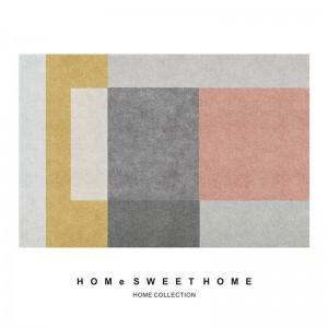 Super promoción de precios de estilo nórdico alfombra de la sala de estar mesa de café pequeña alfombra del piso simple dormitorio geométrico habitación de los niños alfombra