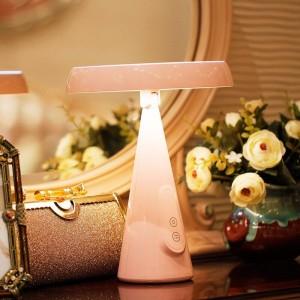 Carga USB Escritorio LED espejo de maquillaje táctil multifunción atenuación espejo dormitorio luz nocturna para estudiantes mujer mx12291533