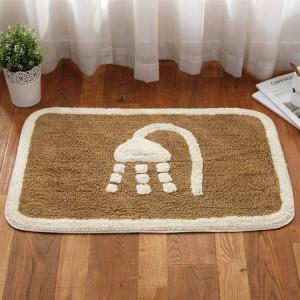 Invierno grueso baño cálido, sala de estar, alfombra del piso, puerta, estera, dormitorio del hogar, alfombra de algodón, baño, absorbente, antideslizante