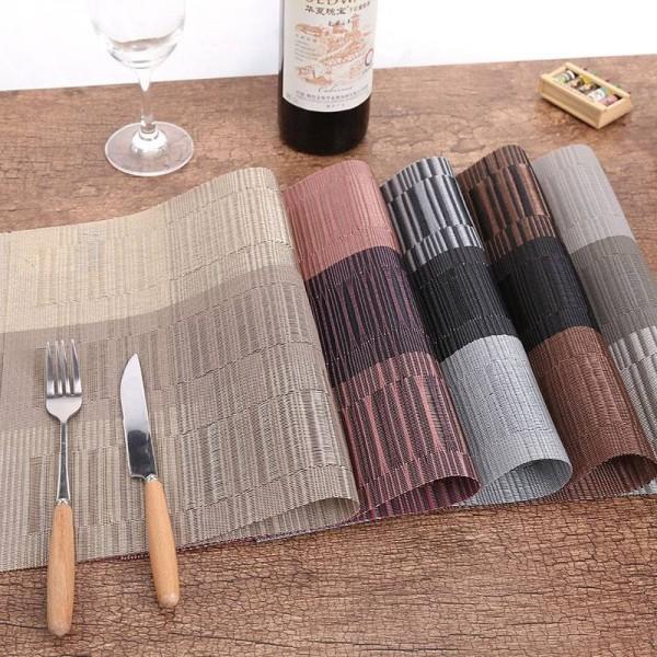 4 Teile / los Tischset Mode PVC Esstisch Matte Schüssel Pad Untersetzer Wasserdichte Tisch Pad Platte Dish Coaster Küche Zubehör