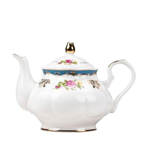 900 ml Europäischen Stil Garten Nachmittagstee Töpfe Teekanne Keramik Knochen Wassertopf / Home Drink Milch Tee Wasserfilter Wasserkocher