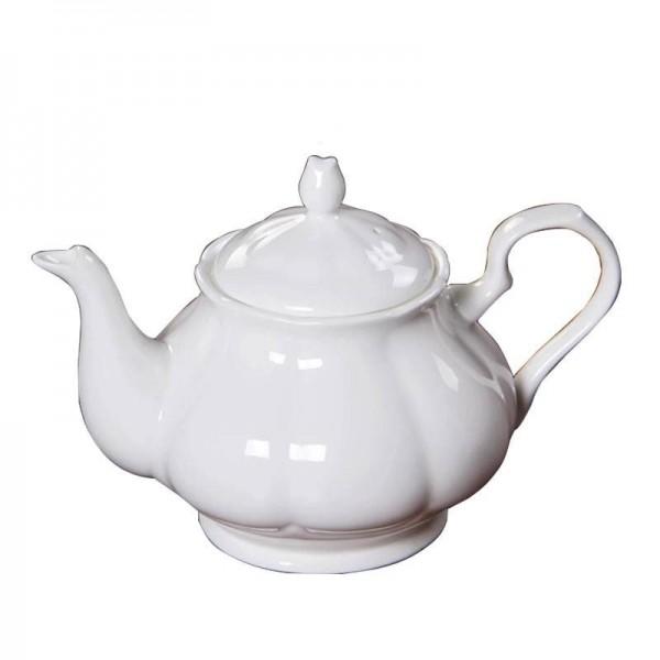 Über 1000 ml Moderne Kaffeemilchkanne Keramikknochen Weiße Teekanne Drinkware / Garten Nachmittagsteekannen Schwarzer Tee Wasserkocher Geschenk
