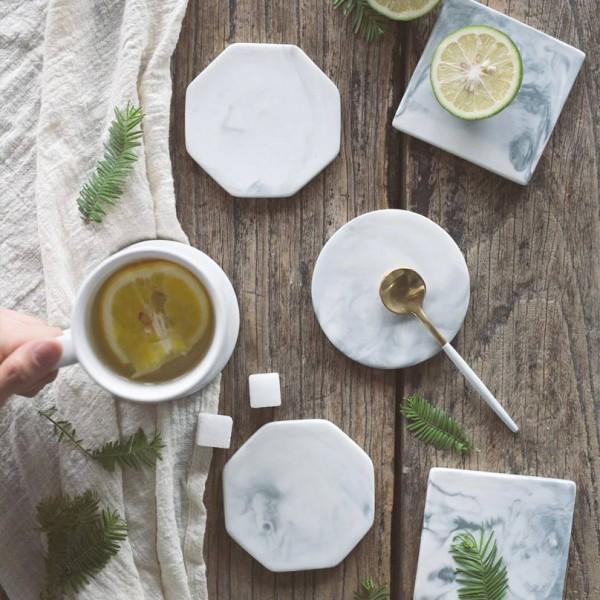 Europäische Marmor Muster Keramik Untersetzer Kaffeetasse Matte Tee Pad Esstisch Tischsets Tischdekoration Zubehör