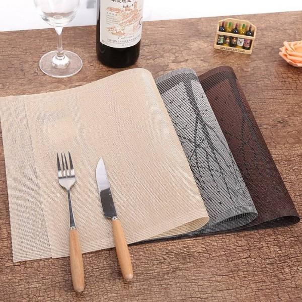 Lekoch 4 Teile / los PVC Tischset Rechteck Baum Tischsets Für Tisch Kunststoffmatten wasserdicht Dining Pads Schüssel Rutschfeste Costers Set