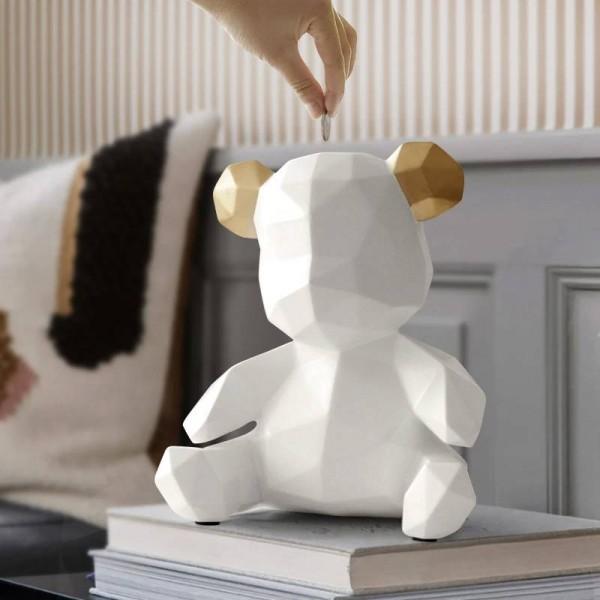 Harz Teddybär Figuren Kreative Spardose Geschenk Hochzeit Aufbewahrungsbox Geld Für Kinder Münzen Halter Box Kinder Spielzeug Münze Bank