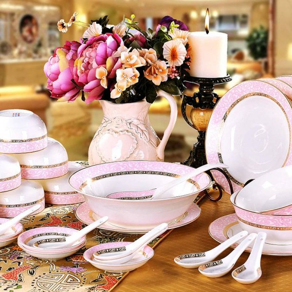 Geschirr Schüssel Set Keramik Qualität Knochen Geschirr Schüssel Teller Teller Hochzeitsgeschenk