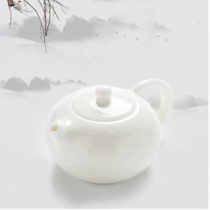 200 ml kurze reine weiße porzellan teekanne drinware handgemachte keramik schwarzer tee wasserkocher büro kung fu tee-set tieguanyin topf geschenke