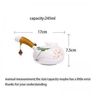245 ml Kreative Teekanne Handgemalte Keramik Porzellan Handgriff Topf Tee Wasserkocher Kung Fu Tee-Set Drink Decor Handwerk