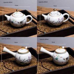 280 / 300ML handgemalte Vintage Muster Keramik Kung Fu Teekanne Kaffeekessel Drink Pu'er Tee Becher