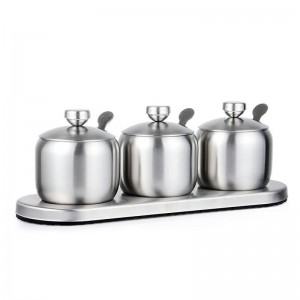 304 edelstahl Gewürz kugelförmige Gewürzdosen Set Salz Pfefferstreuer Gewürzsprays Kochen Küche Werkzeug Müslispender