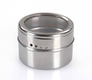 4 Stücke Edelstahl Magnetic Cruet Würze Gewürzdosen Salz-und Pfefferstreuer Gewürzsprays Kochutensilien