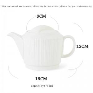 754 ml kurze weiße gerade linien keramik porzellan kaffeekanne hause drink frühstück milch topf kung fu tee-set wasserkocher