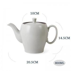 800 ml keramik porzellan kurze kaffeekanne mit deckel kit home große kapazität drink milch wasserkanne büro nachmittagstee wasserkocher