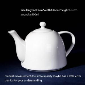 800 ml Kreative Kaffeemilchtopf Keramik Porzellan Weißwasser Töpfe Teekanne / Home Drinkware Teaware Nachmittagstee Saft Wasserkocher