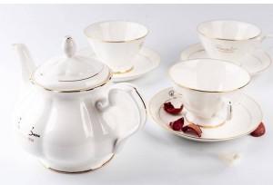 950 ml Kurze Keramik Knochen Haushalt Handgriff Kaffee Milch Topf Gold Grenze Drink Große Kapazität Schwarzer Tee Wasserkocher Geschenke