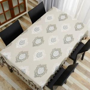 Erstaunliches Design Bestickte Tischdecke Luxus Fein Präzise Quaste Toalha De Mesa Euro Tischdecke Royal Dinning Tischdecken