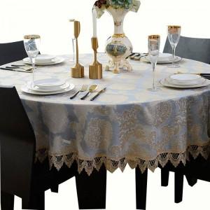 Erstaunliche runde Tischdecke Jacquard Classic Tischdecke Elegante Decoracao Para Casa Spitzenkante Toalha De Mesa Tapete Tischdecke