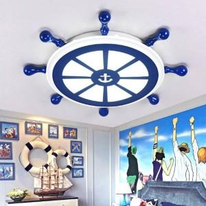 Bar Salon Art-Deco-Seemann Lampe Led Leuchten Deckenbeleuchtung Kinderzimmer Blau Büro Licht Esszimmer Studie führte Deckenleuchte