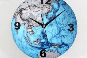 Schöne blaue Erde 3d wanduhren mode kreative kunst planeten erde wanduhr glocke karte wanduhr wanduhr modernes design