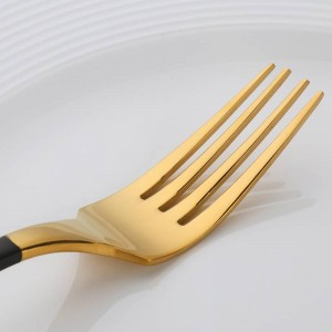 4 tlg. Vergoldetes Besteckset Besteckmesser Gabelset Edelstahl Neuheit Besteck Geschirr Geschirr Besteckset