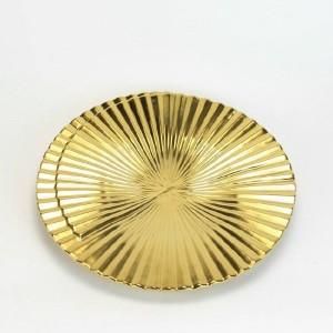Keramische dekorative Schüssel-moderne kreative goldene geometrische vertikale Streifen-Inneneinrichtungs-Verzierungen