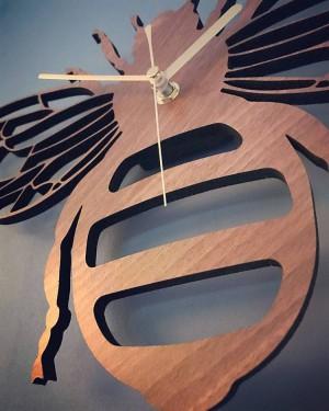 kreative bambus / holz biene wanduhr garten natur dekoration wand wandbehang tischuhren quarzuhr wohnzimmer schlafzimmer
