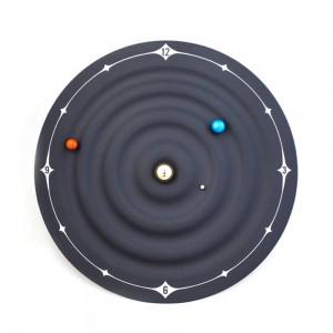 Kreative Tischuhr Modernes Design Orbit Galaxy Magnetuhren Planet Ball Schreibtischuhr Wandmontage oder Desktop-Wohnkultur 8 Zoll
