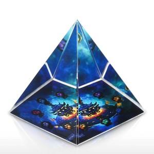 Kristalldekoration zu Hause Sternenpagode Skulptur Glaskunst Ornament Mundgeblasenes Glas Ornament Wohnkultur Miniaturfiguren