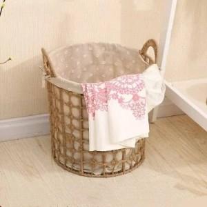 Aufbewahrungskorb für Schmutzwäsche Nordic Wäschekorb großer geflochtener Aufbewahrungskorb einfacher Schmutzwäschekorb für den Haushalt