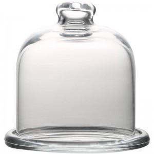 Europäisches Kuchenabdeckungs-Kerzenlichtabendessen Transparente Glasstaubabdeckung Nachtischimbiß mit Deckelteetablett Frucht-Westpunkt-Haus