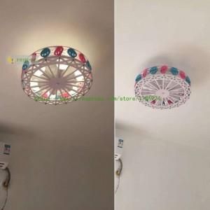 Riesenrad LED Deckenleuchte Junge Mädchen Prinzessin Schlafzimmer Deckenleuchten kreative Cartoon Persönlichkeit Kinderzimmer Beleuchtung