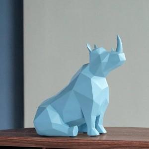 Figur tier Europäischen Kreative harz geschenke statue tischdekor für büro zu hause dekorationen rhinoceros Statue Schreibtisch ornamente