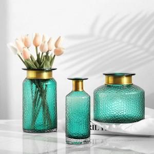 Glasvasenausgangsdekorationwasserkulturdesktopdekoration der getrockneten Blume